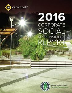 2016 carmanah CSR report cover