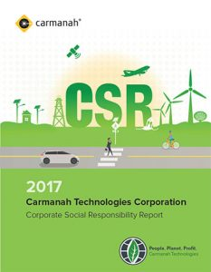 2017 carmanah CSR report cover