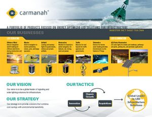 carmanah investor fact sheet cover