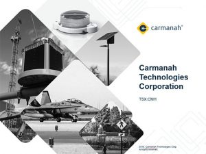 carmanah investor relations report presentation cover