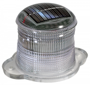 Image of a solar powered light encased in plastic by Carmanah Technologies.