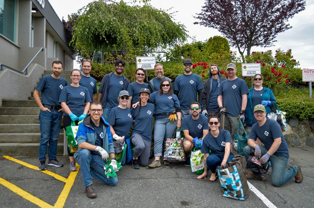 carmanah community cleanup group shot