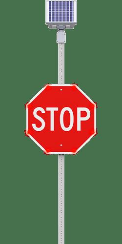carmanah led enhanced stop sign flashing