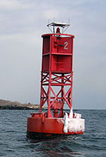 "Lighted Buoy 2 at the<br /> entrance to the Piscataqua River on the ME/ NH border"" border=""0″ /></td> </tr> <tr> <td align="
