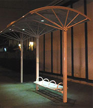 Carmanah's i-SHELTER™ solar LED lighting system on a Kaleidoscope canopy.