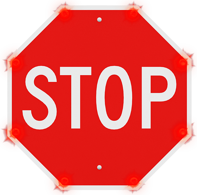 r1-1 led enhanced stop sign