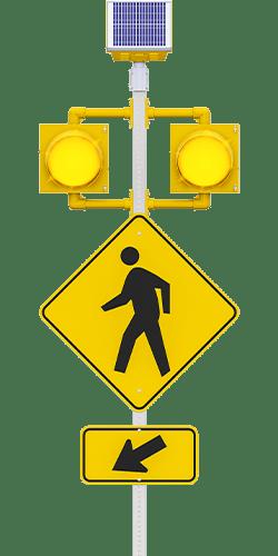 carmanah r820-e circular flashing crosswalk beacon