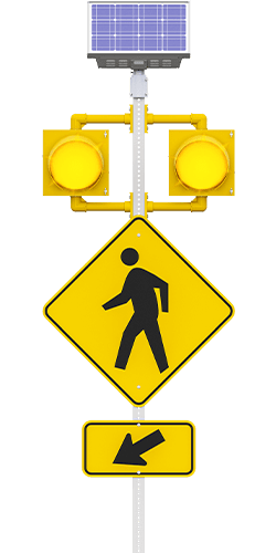 carmanah r820-f circular flashing crosswalk beacon