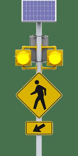 carmanah r820-g circular flashing crosswalk beacon