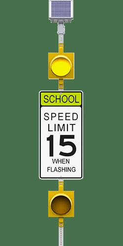 carmanah r829-e flashing school zone speed limit beacon