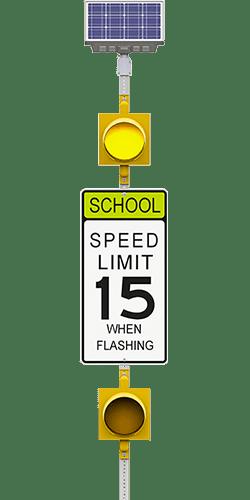 carmanah r829-f school zone speed limit flashing beacon system