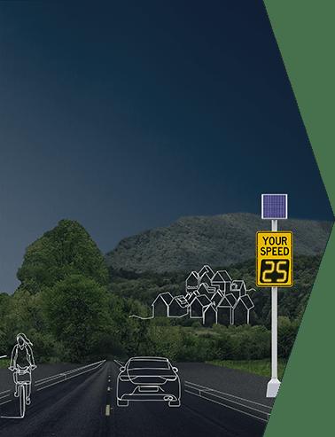 radar speed sign home banner popup form