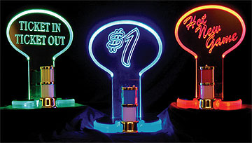 Carmanah's LED Edge-lit Slot Topper Signs