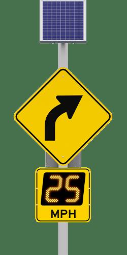 speedcheck advisory radar speed sign