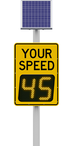 carmanah speedcheck-18 radar speed sign with 45 digits