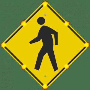 w11-2 led enhanced crosswalk sign