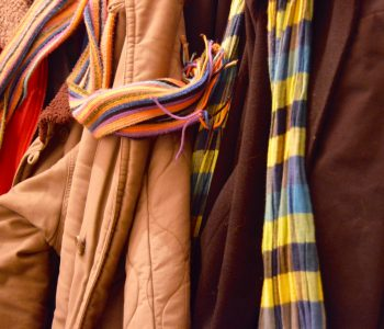 winter coats and scarves