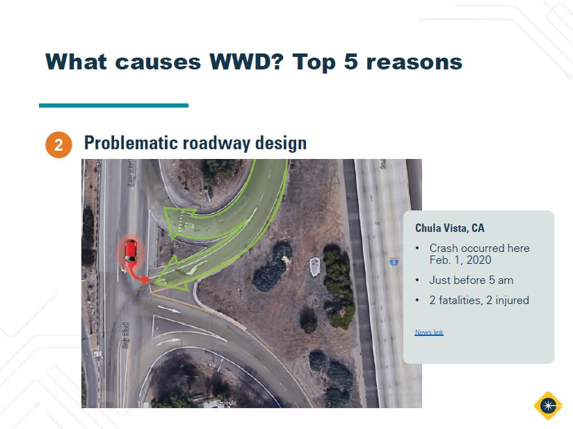 wwd webinar part 1 featured image, causes of wrong-way driving reason 2, problematic roadway design