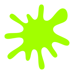 splash of yellow-green paint
